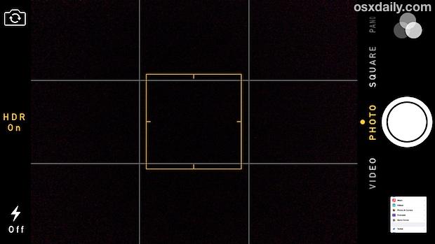 Camera Grid in iOS 7
