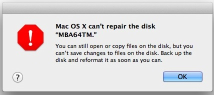 Unable to repair a disk because of drive failure