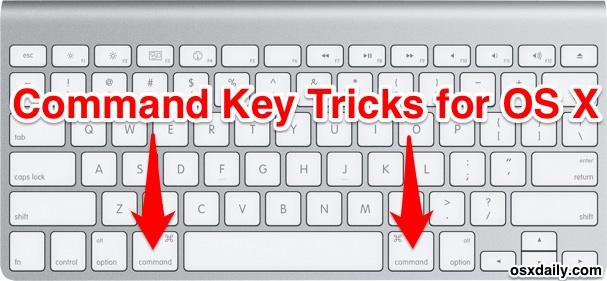 Command key tricks for OS X