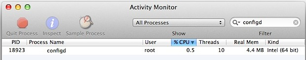 Resolve configd problems in Mac OS X