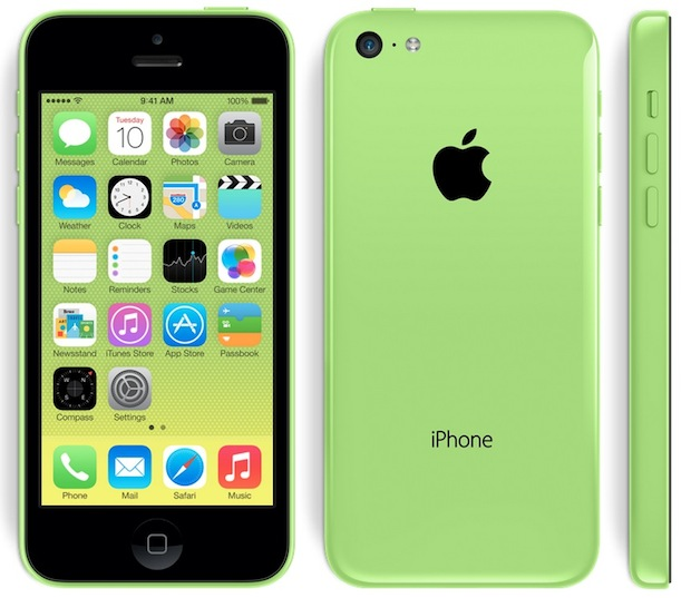iPhone 5C in green