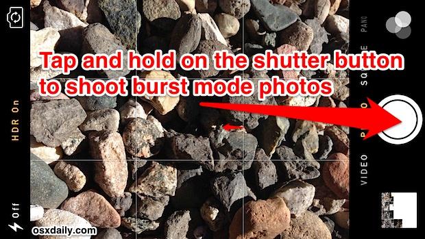 iPhone burst mode camera