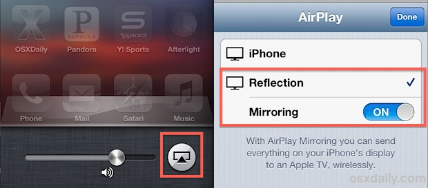 Using AirPlay to export video of an iOS Screen to a computer for recording screencasts