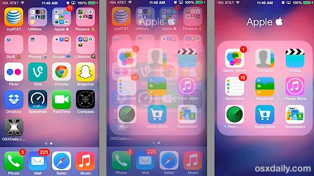 Fading transition effects introduced in iOS 7.0.3