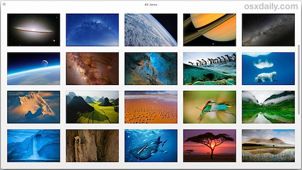 Hidden wallpapers in OS X Mavericks