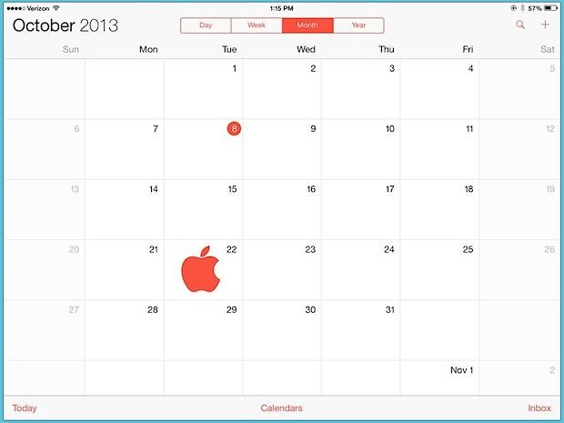 iPad event date for October 22