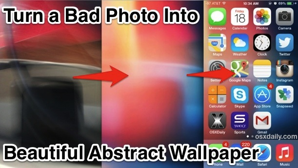 Make abstract wallpaper