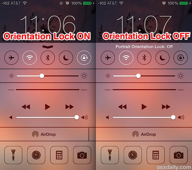 iphone auto rotate how to lock orientation to stop screen rotation in ios 10 11613