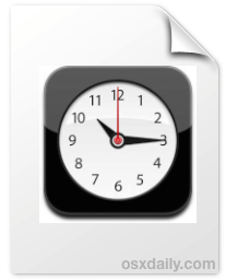 Show file access time on a Mac