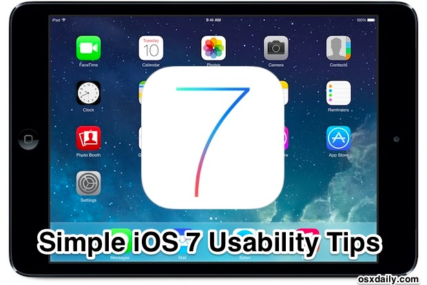 iOS 7 Usability Tips