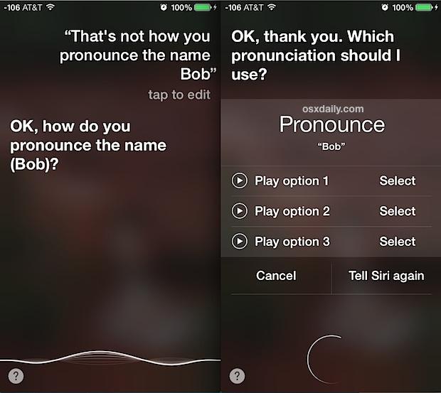 Correct how Siri pronounces a name