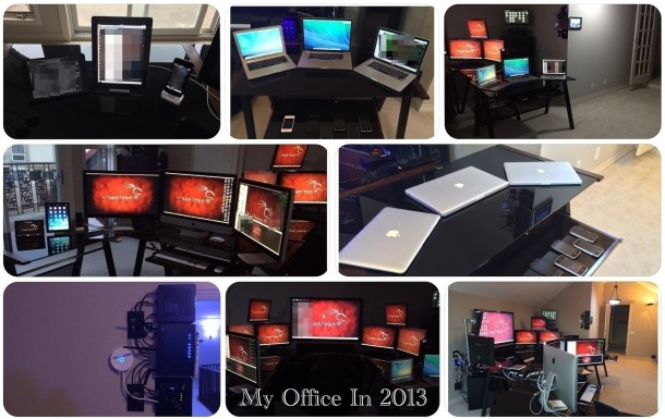 The desk and office computer setup of a Cybersecurity professional
