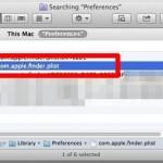 Delete the Finder plist file