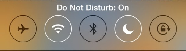 Do Not Disturb mode turned ON in iOS
