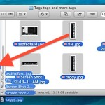 Tag files by dragging and dropping them in OS X Finder