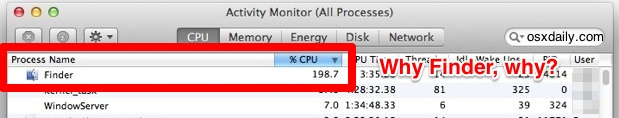 Finder high CPU use and sluggish behavior