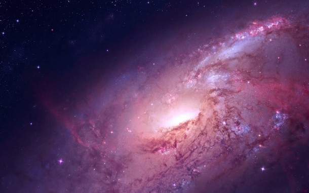 Red and pink galaxy high resolution