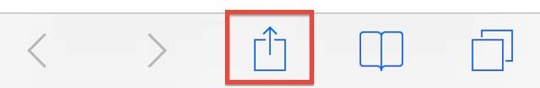 Share icon in Safari for iOS