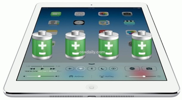 Extend the battery life of iPad Air