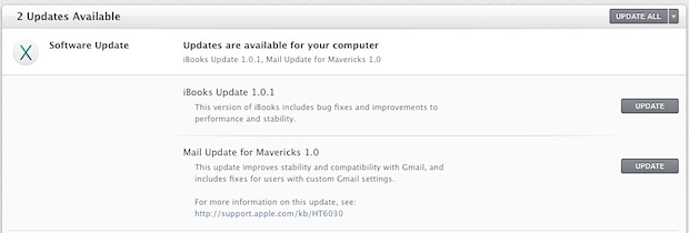 Mail Update for Mavericks fixes many bugs