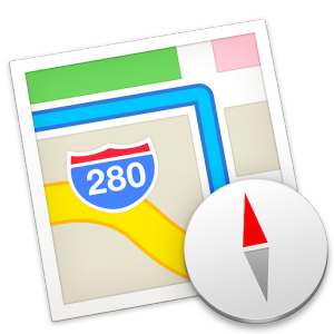 Maps icon for Mac OS X
