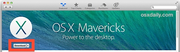 Re-Download OS X Mavericks Installer