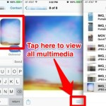 See all pictures and movies in an iMessage conversation with Messages app for iOS