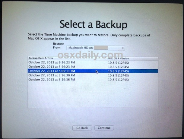 select-backup-for-downgrade-mac-os-x