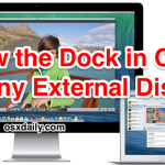 Show the Dock on an external display in Mac OS X