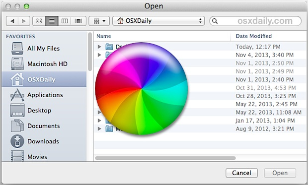 Slow Open and Save dialog box in Mac OS X