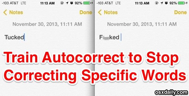 Train autocorrect words in iOS