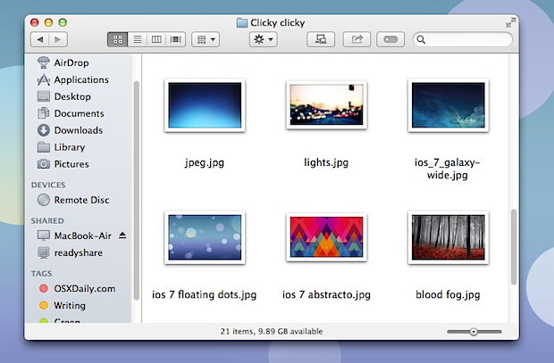 White theme in Mac OS X
