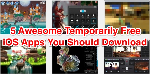 5 Awesome Temporarily free iOS Apps
