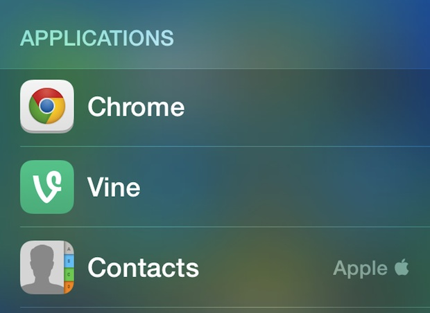 Get an Application list in iOS Spotlight