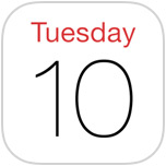Calendar icon in iOS