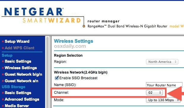 Changing Wi-Fi broadcast channel to the best option