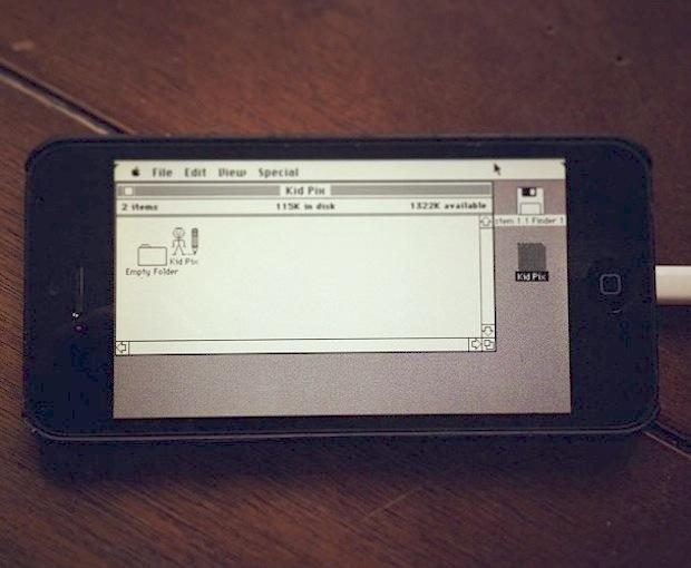 Classic Mac OS running on an iPhone