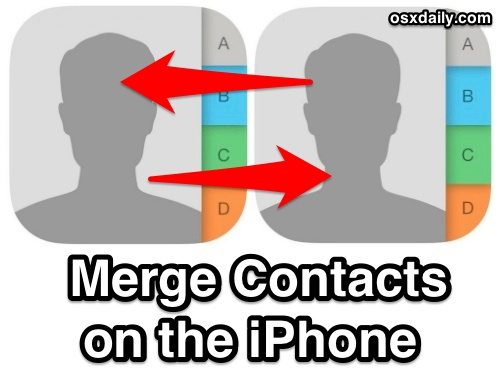 How to Merge Contacts in iOS