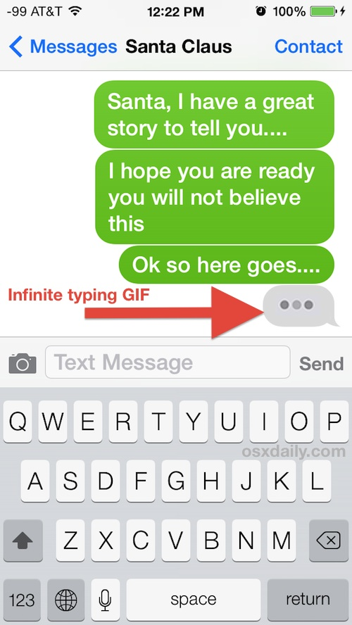 iMessage prank
