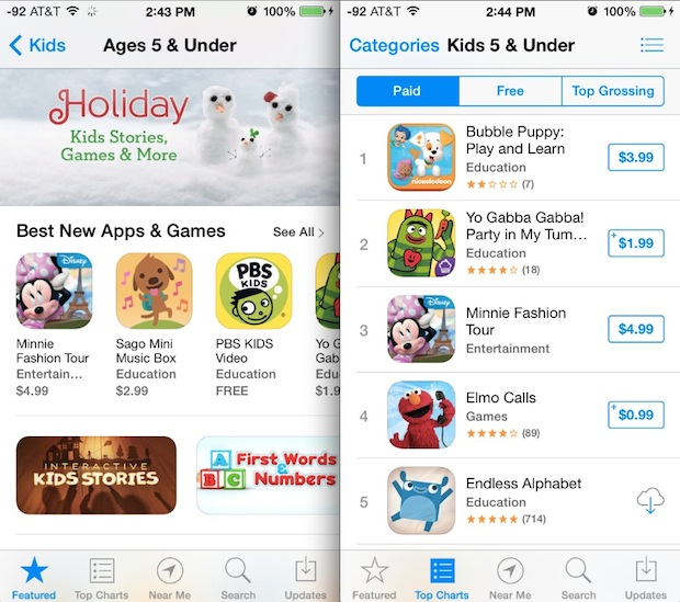 Kids App Store for iOS