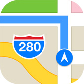 Maps icon in iOS