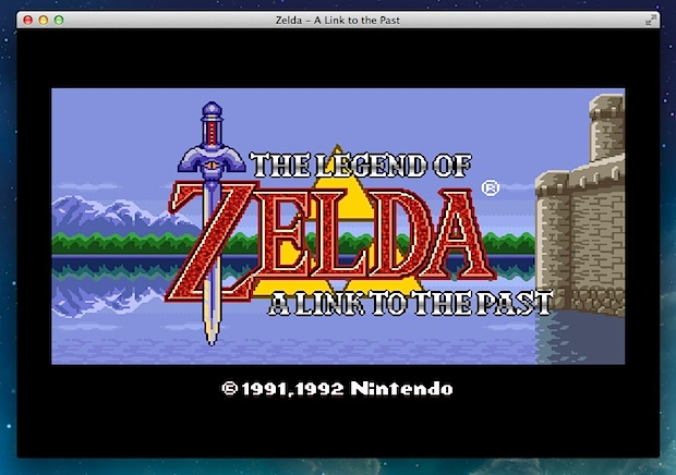 OpenEMU Emulator for Mac OS X running SNES