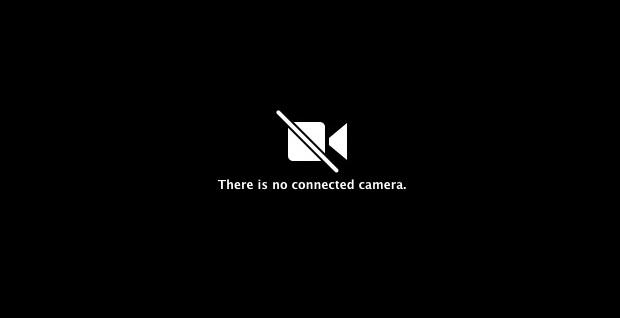 """There is no connected Camera"" error message on the Mac"