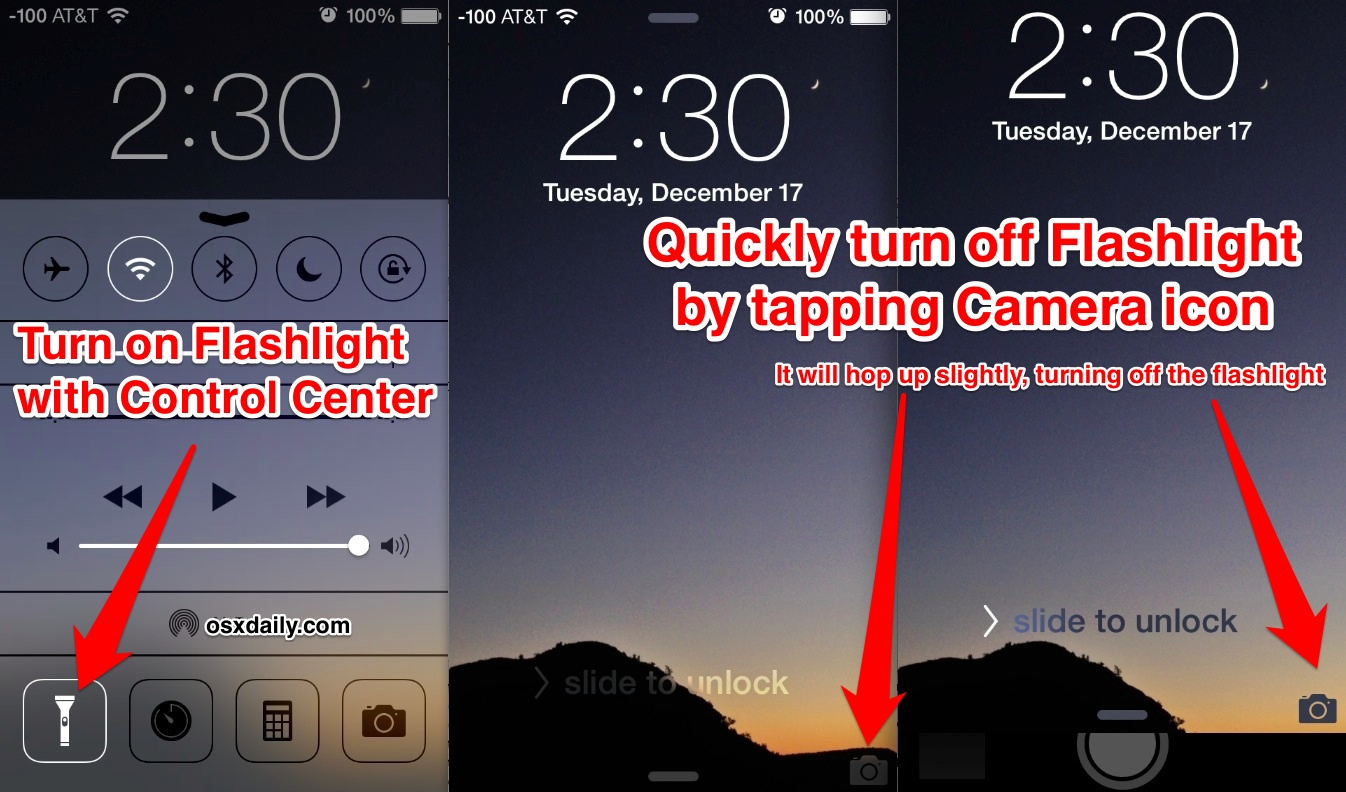 turn off flashlight on iphone turn the iphone flashlight with a tap 18105