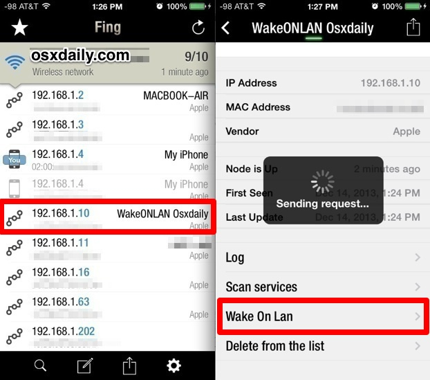 Using Wake On LAN in iOS