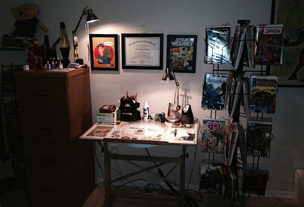 Animation desk of digital artist PCWeenies Krishna