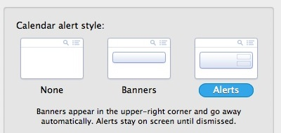 Banners vs Alerts in Notification Center of Mac OS X