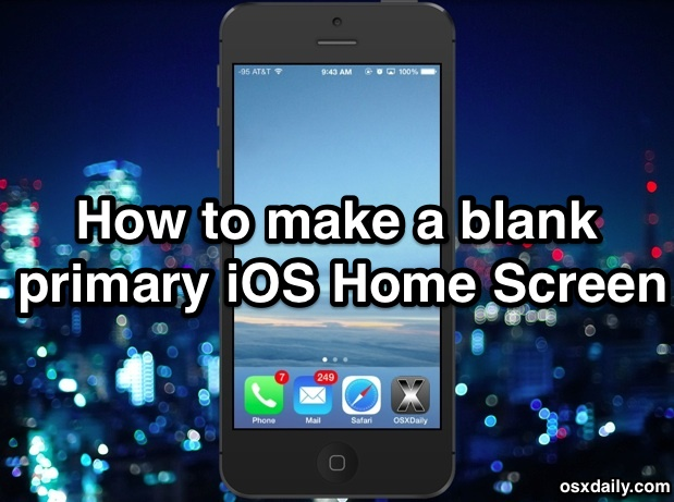 How to make a blank / empty iOS Home Screen