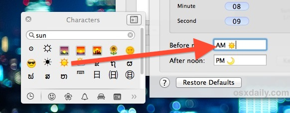 Drag Emoji into the Clock settings to make it appear in the menu bar