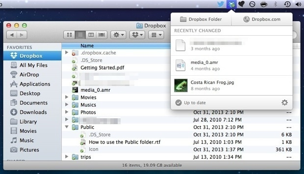 Dropbox in Mac OS X